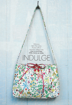Liberty print resort style bag As seen in Marie Claire Health and Beauty Cotton, silk lining Made to order POA