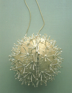 Dandelion bag As in the Craft Council collection Sterling silver, metalic organza Made to order POA