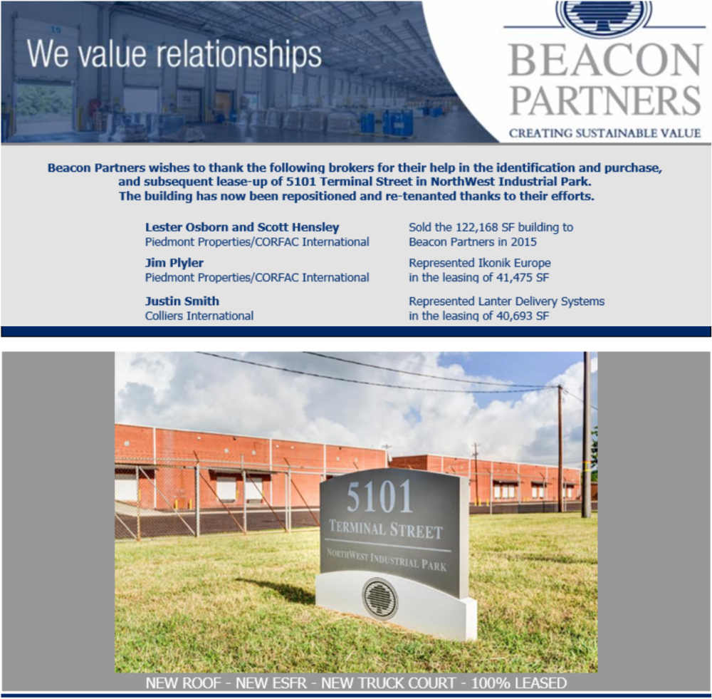 Email blast by Beacon Partners.
