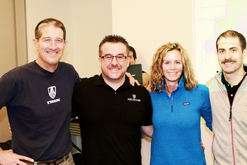 Dr Mark Timmerman, Paraic McGlynn, Heather Casey and Matt Gehling at Trek's headquarters in Madison Wisconsin