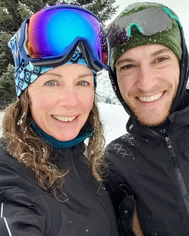 We hope you all got outside today! Pat and I had so much fun at @utahnordic #SkiFest. ❄ It dumped snow the whole time we skied. Come out and try nordic skiing with us! It's so fun! . . . . . #utah #Utahfitgram #ExploreUtah #Coach #offseason #crosstraining #nordicskiing
