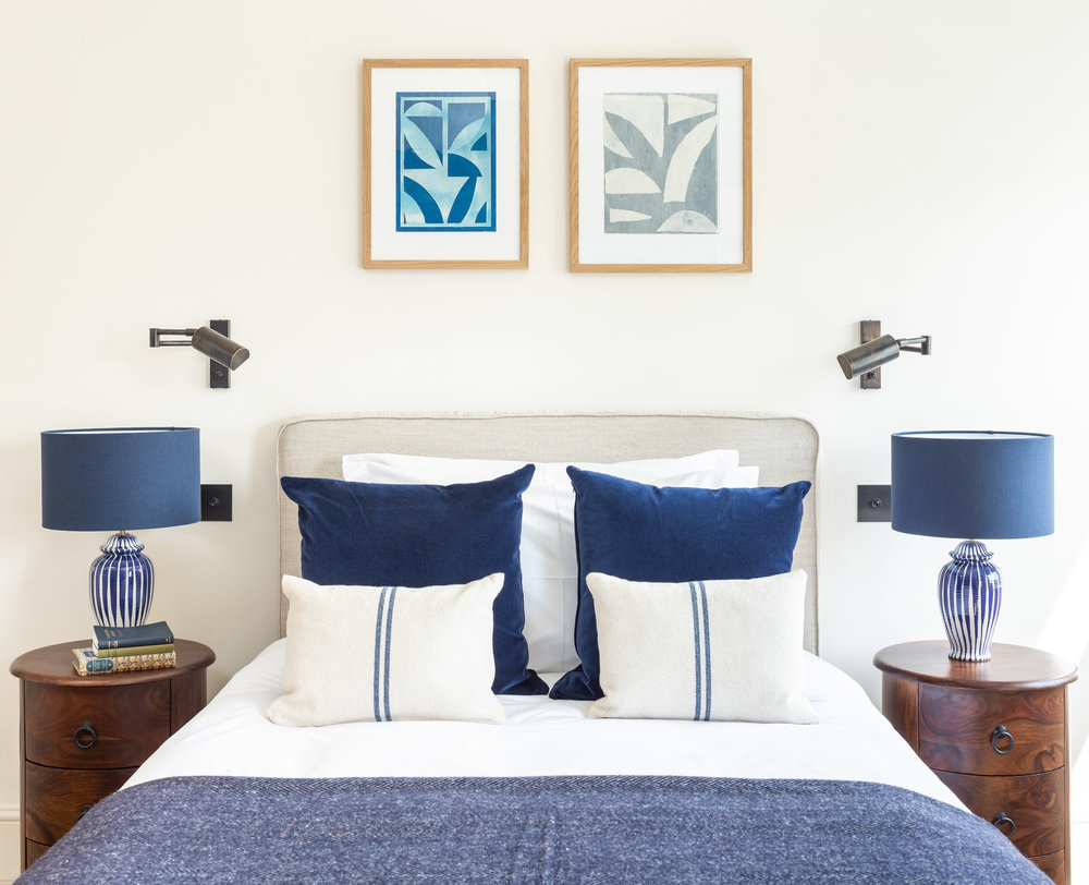 Private Residence | Hampstead⁣   ⁣Cyanotype and Newsprint on Paper⁣    ⁣⁣  Interior Design: Article Design Studio
