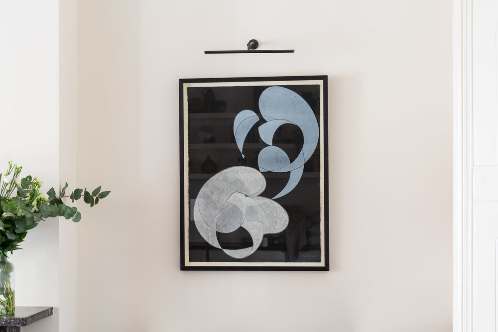 Private Residence | Hampstead⁣   ⁣Woodblock and Chine-collé on Paper⁣    ⁣⁣  Interior Design: Article Design Studio
