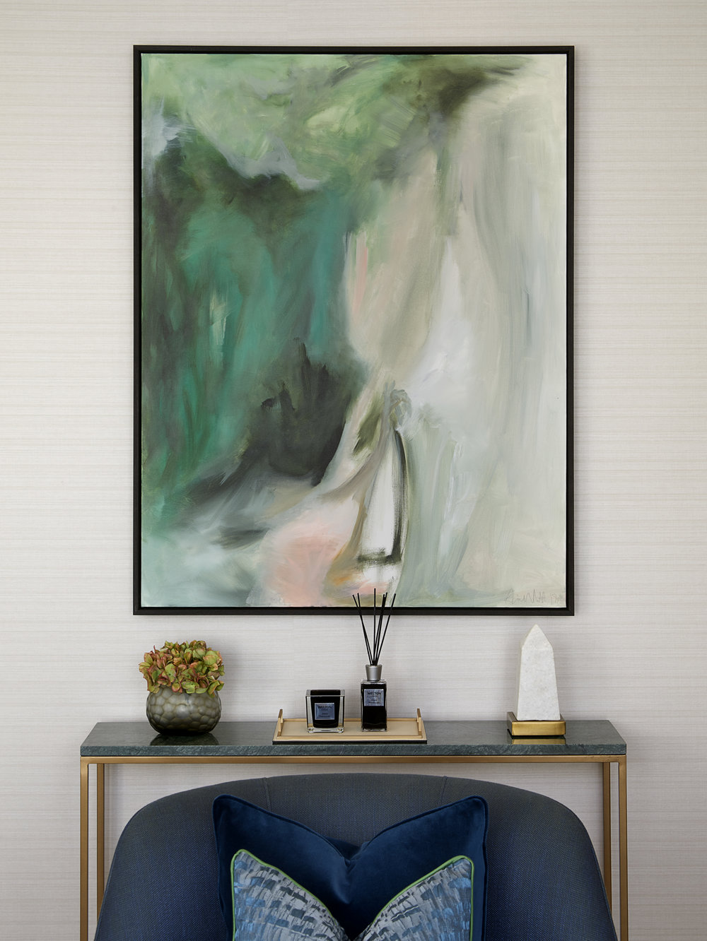 Chiltern Place | Marylebone⁣   Oil on Canvas    ⁣⁣  Interior Design: Elicyon