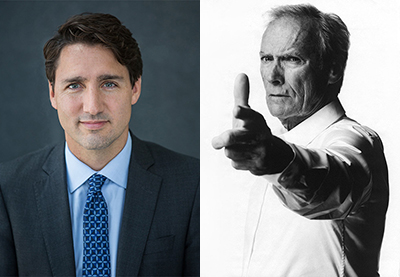 Clint vs. Trudeau. Which is a real man?