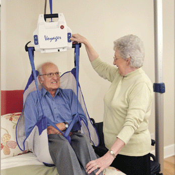 The BHM Medical Voyager Portable Ceiling Lift is one of the many products offered by Motion Specialties (image taken from their site)