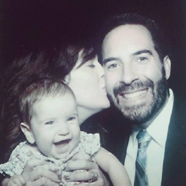 Meet the family: Natasha with her husband David & daughter Charlotte.
