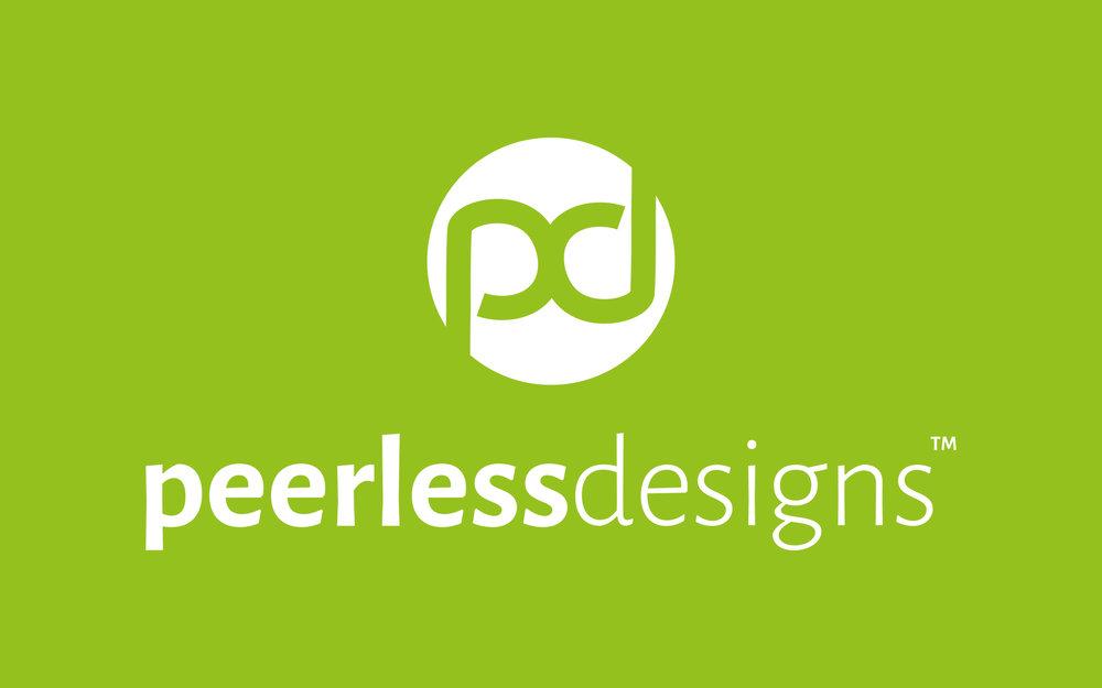 My finalised Peerless Designs branding  see more here