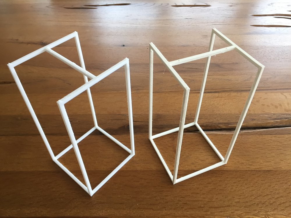 3D printed prototypes of the display units