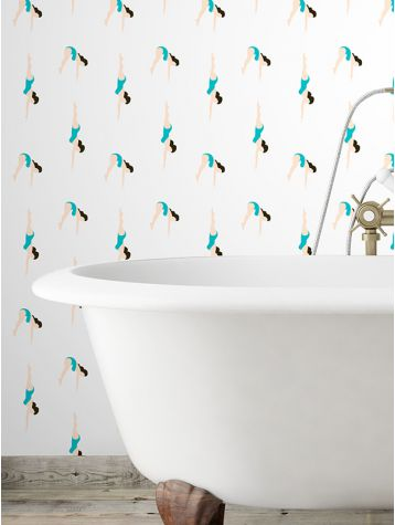 Love this retro inspired swimmers paper. We spotted this colour way on the Milk Decoration trend stand at Maison Objet.