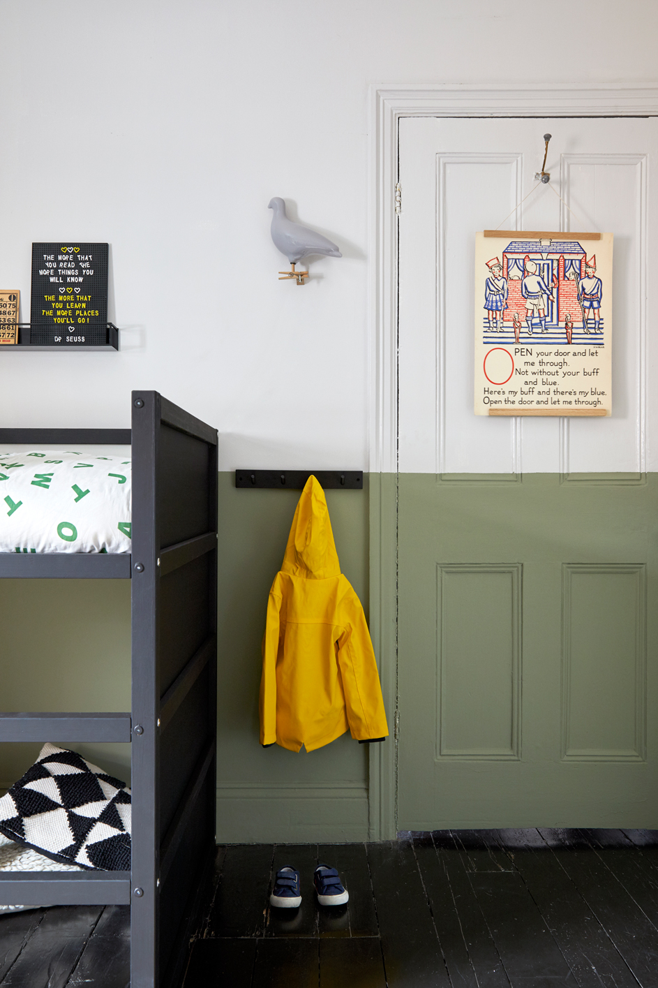 colour blocked kids room