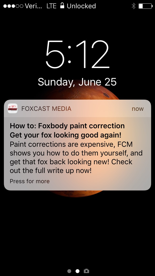 Push notifications  for our mobile app go directly to users phones. Available in the iTunes app store, and Google Play Store, this puts FCM on the cutting edge of automotive media.