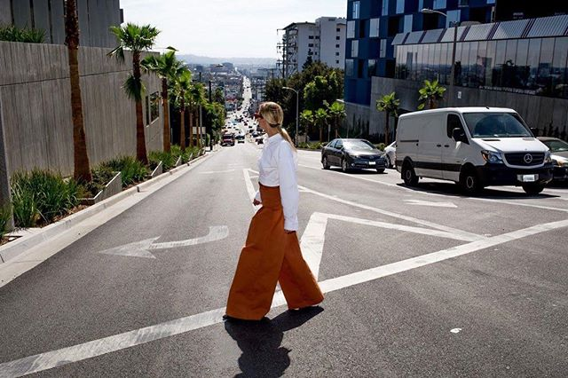 Throwback to sunset strip with @celineaagaard_  in @hm.  Hair/Makeup @heltrita