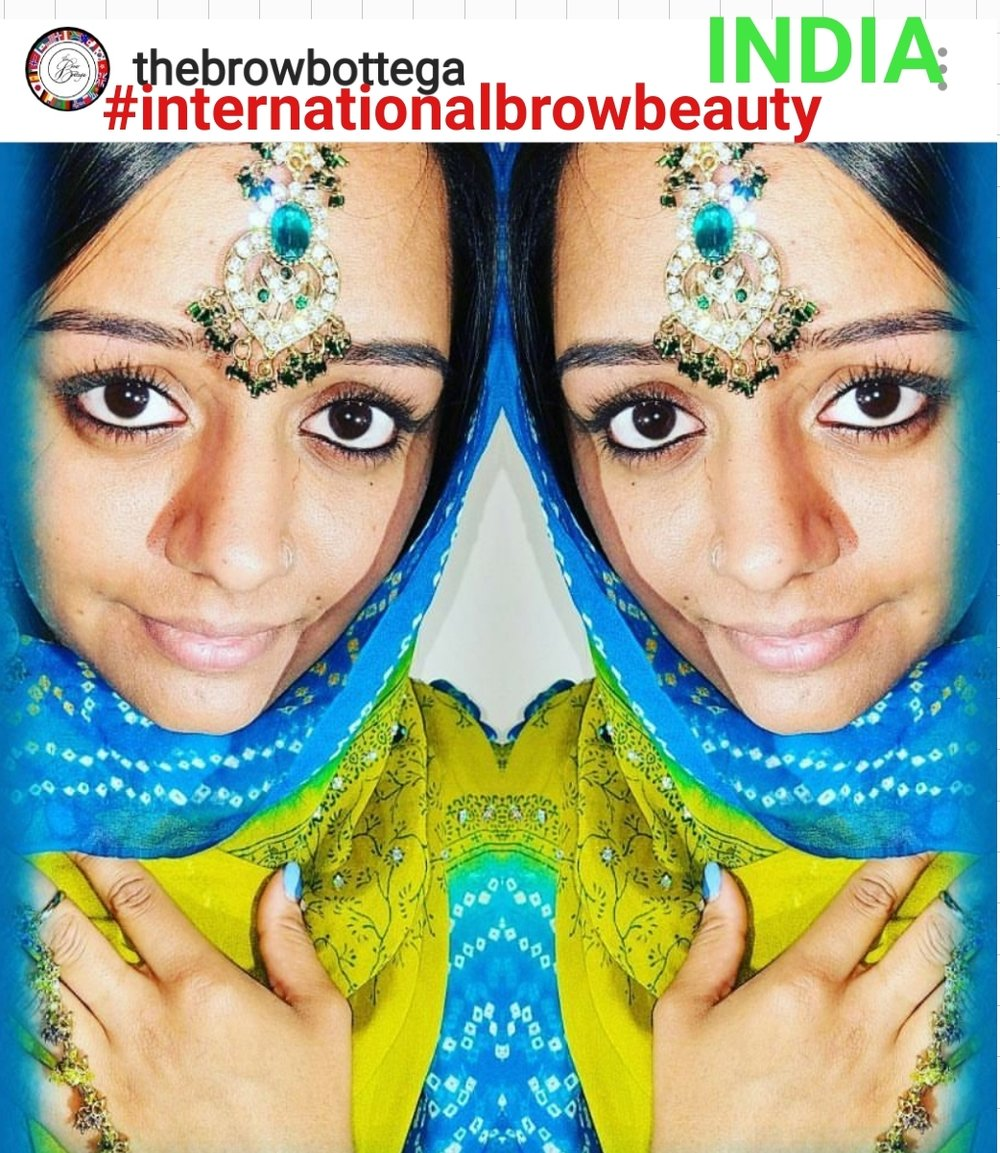 *client* #Internationalbrowbeauty - india