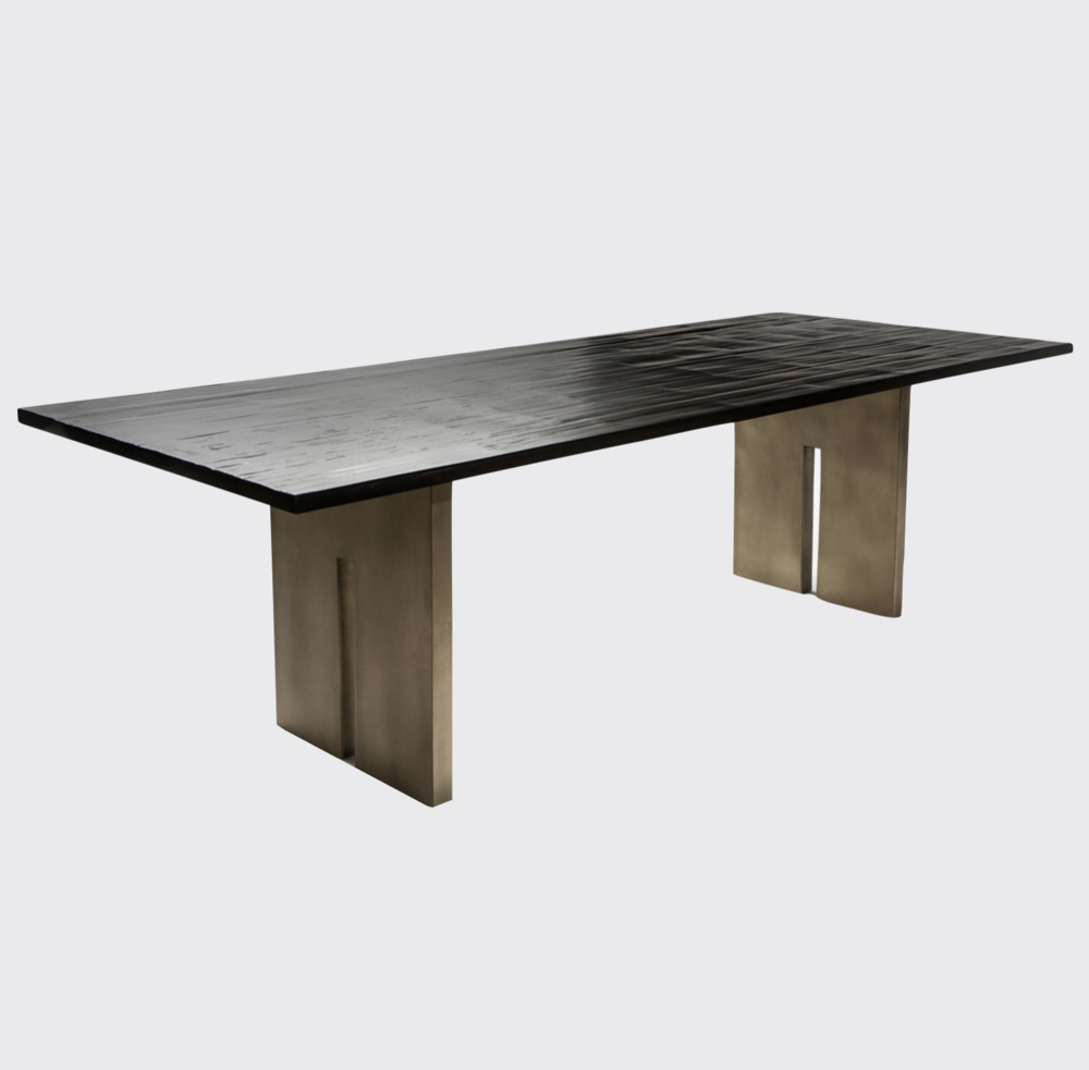 Aguirre Design - Bamboo and Brass Dining Table