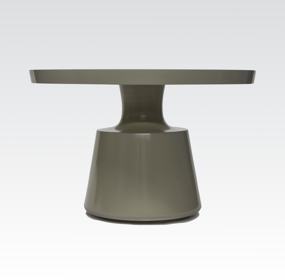 Aguirre Design - Round Table with solid pedestal