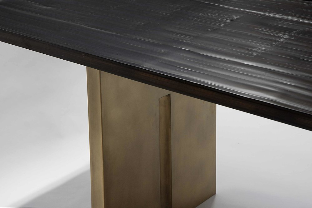 Aguirre Design - Salome Dining Table - Bamboo and Brass