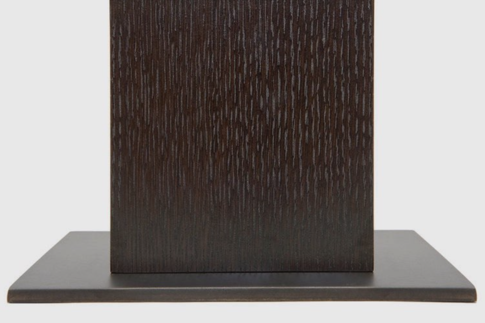 Aguirre Design - Kampai Side Table - Cast bronze, Oak and Brass.