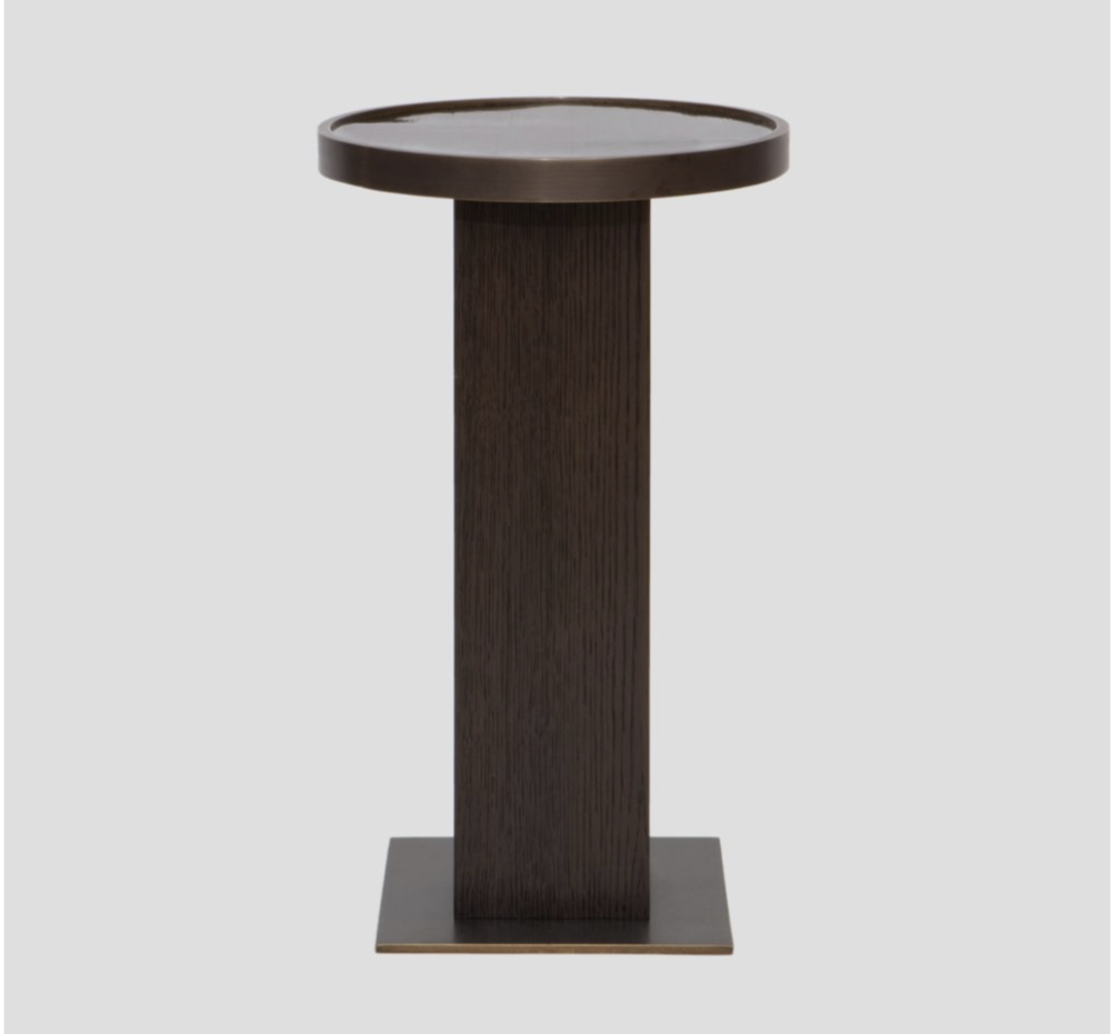 Aguirre Design - Moka Side Table - Bamboo, Brass and Oak