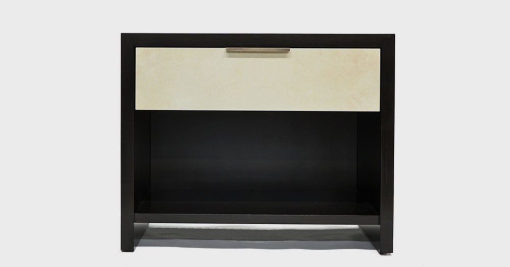 Aguirre Design - Parchment Nightstand - Maple, Parchment and Brass