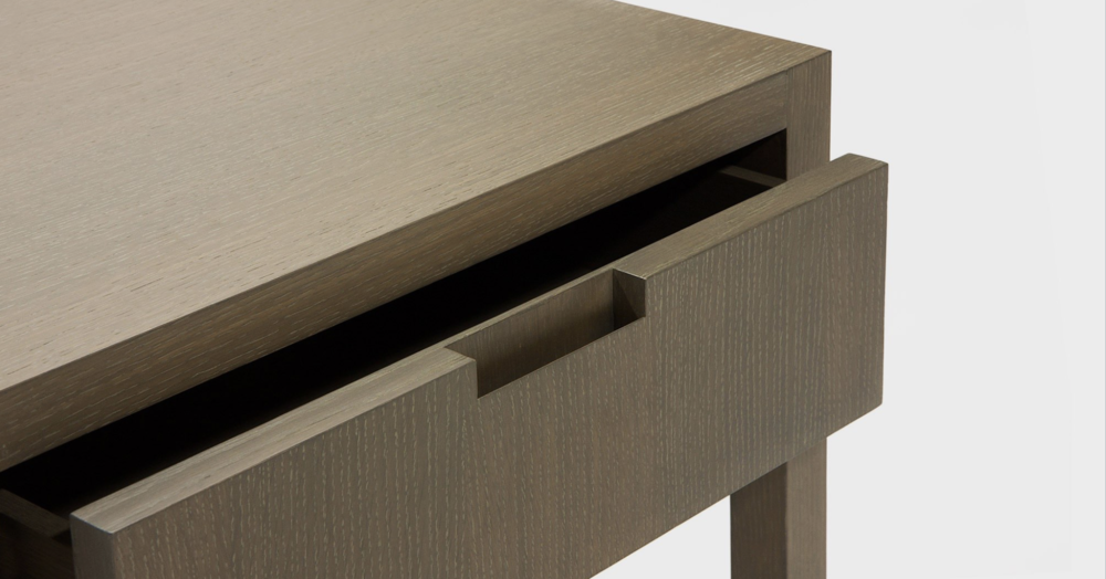 Aguirre Design - Riviera Nightstand - Cerused Oak and Drawer
