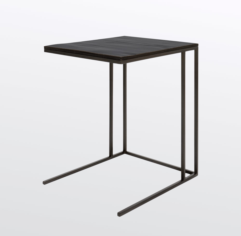 Aguirre Design - Bamboo and Blackened Steel Nesting Side Table