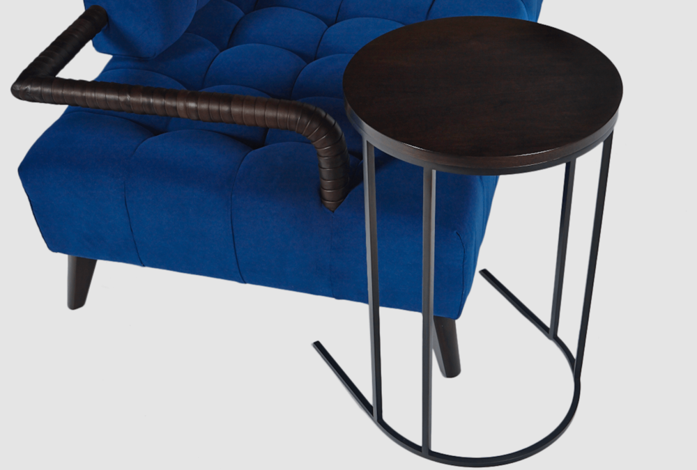 Aguirre Design - Walnut and Blackened Steel Side Table