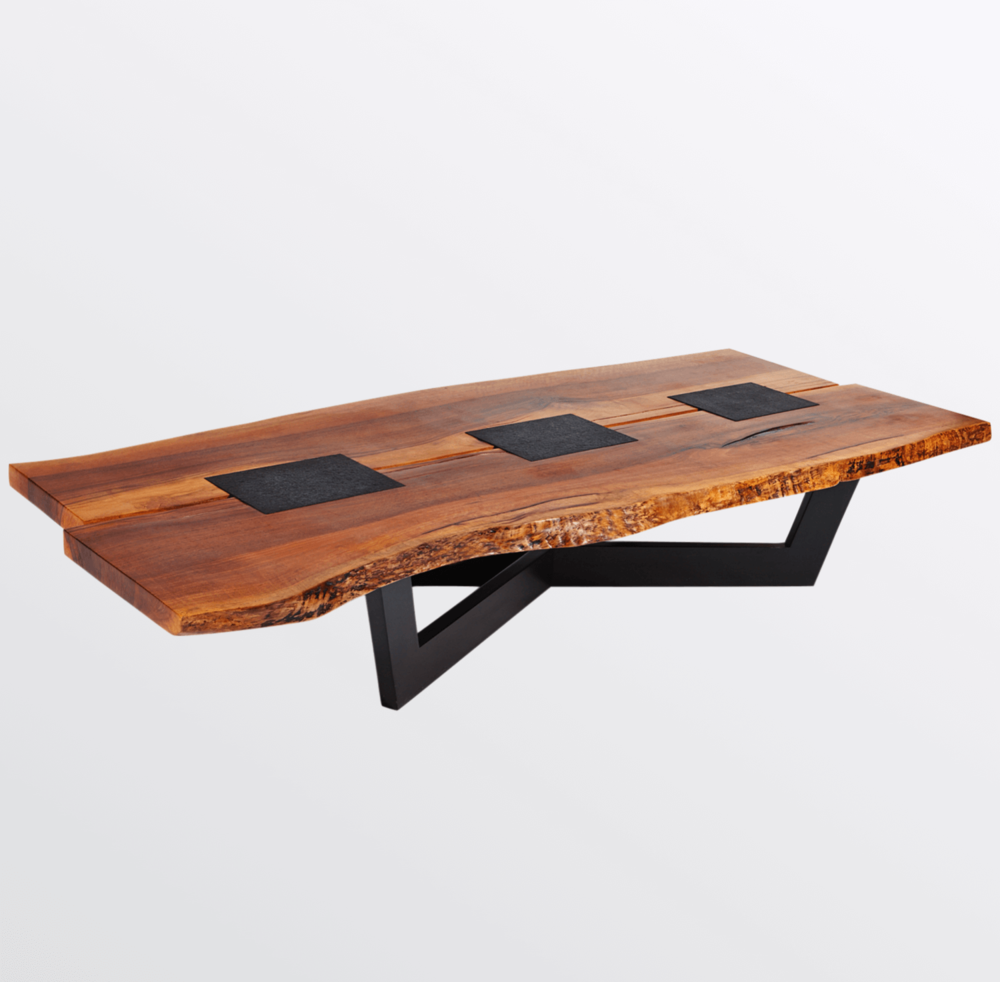 Aguirre Design - Unique Walnut and Granite Coffee Table