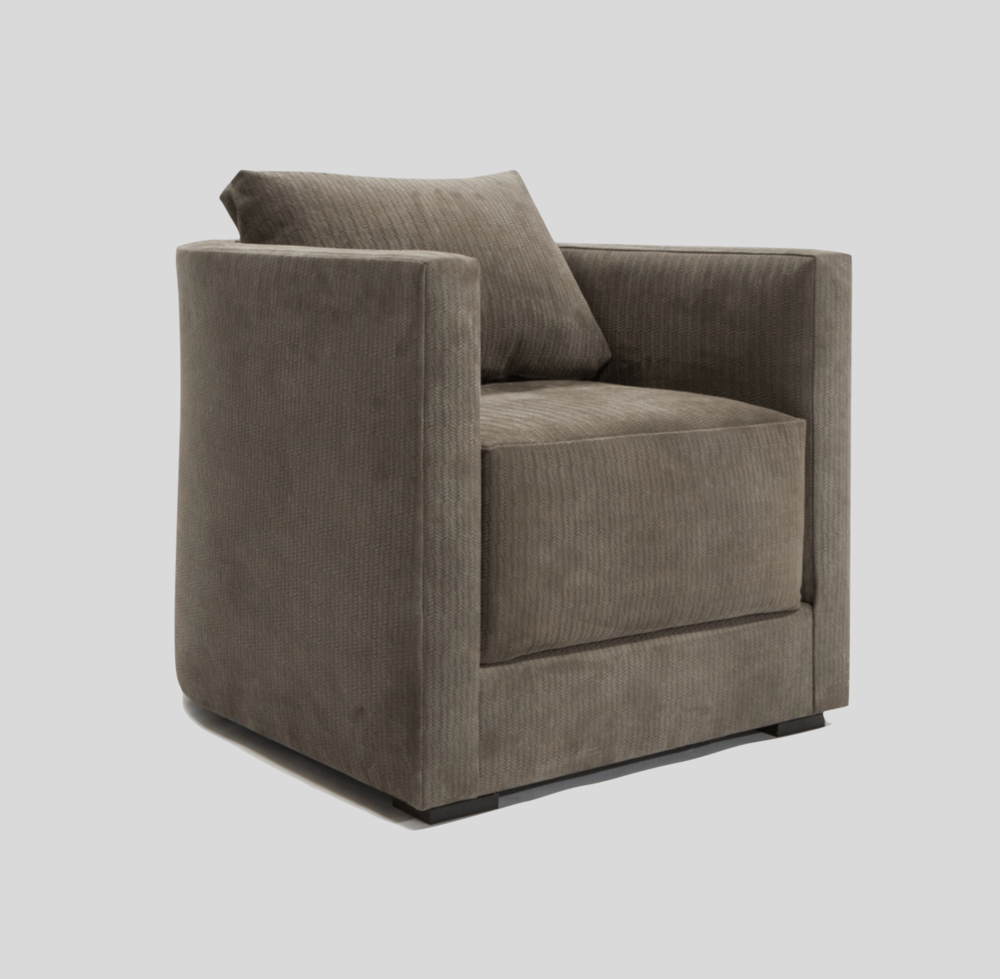 Aguirre Design - Modern Leather Club Chair