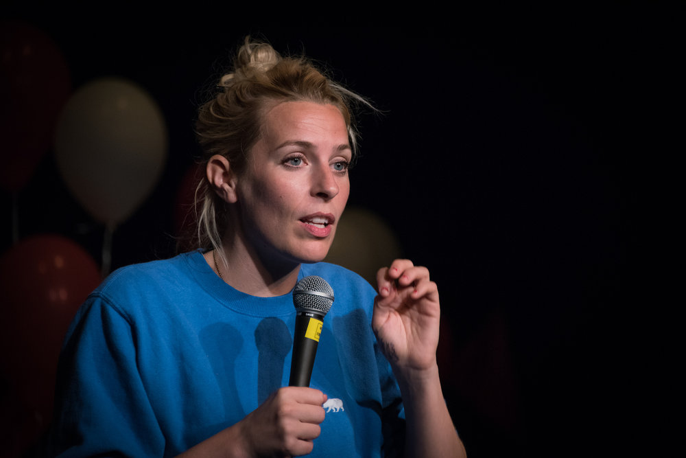 Sara Pascoe, Wells Comedy Festival 2017. Photo: Paul Gilbey.