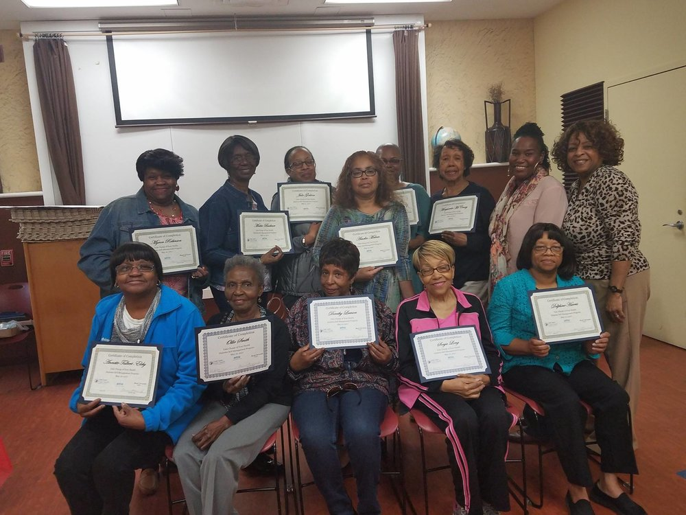 A local library and county health department to provide a great workshop for these participants!