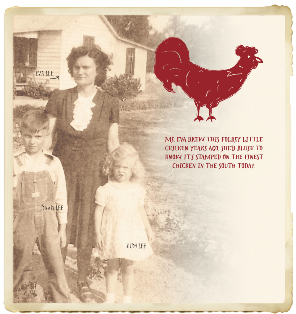 Where did the funky chicken illustration come from? Click for more of the Eva's Story.