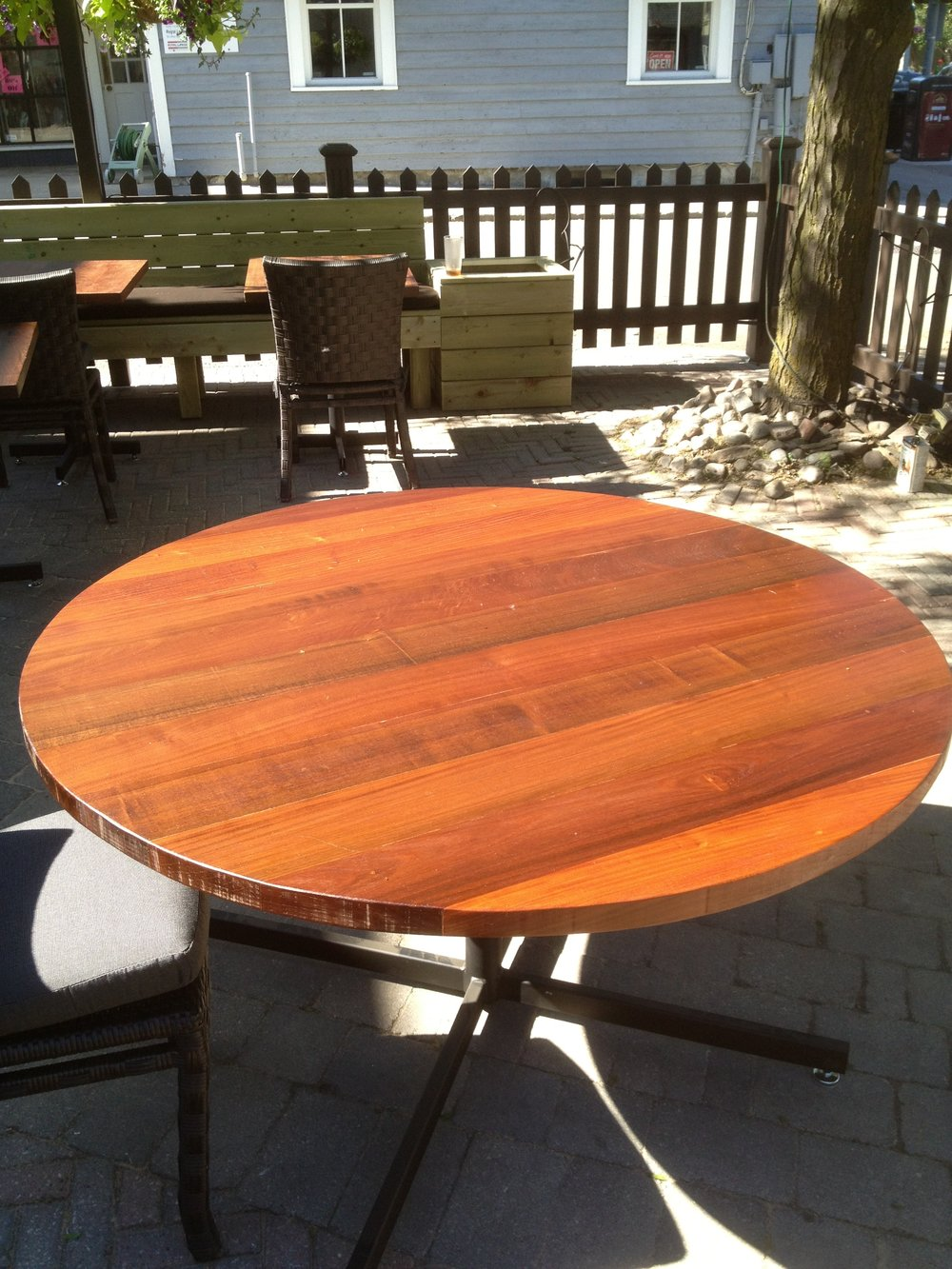 El Postino - Custom Ipe Patio Tables