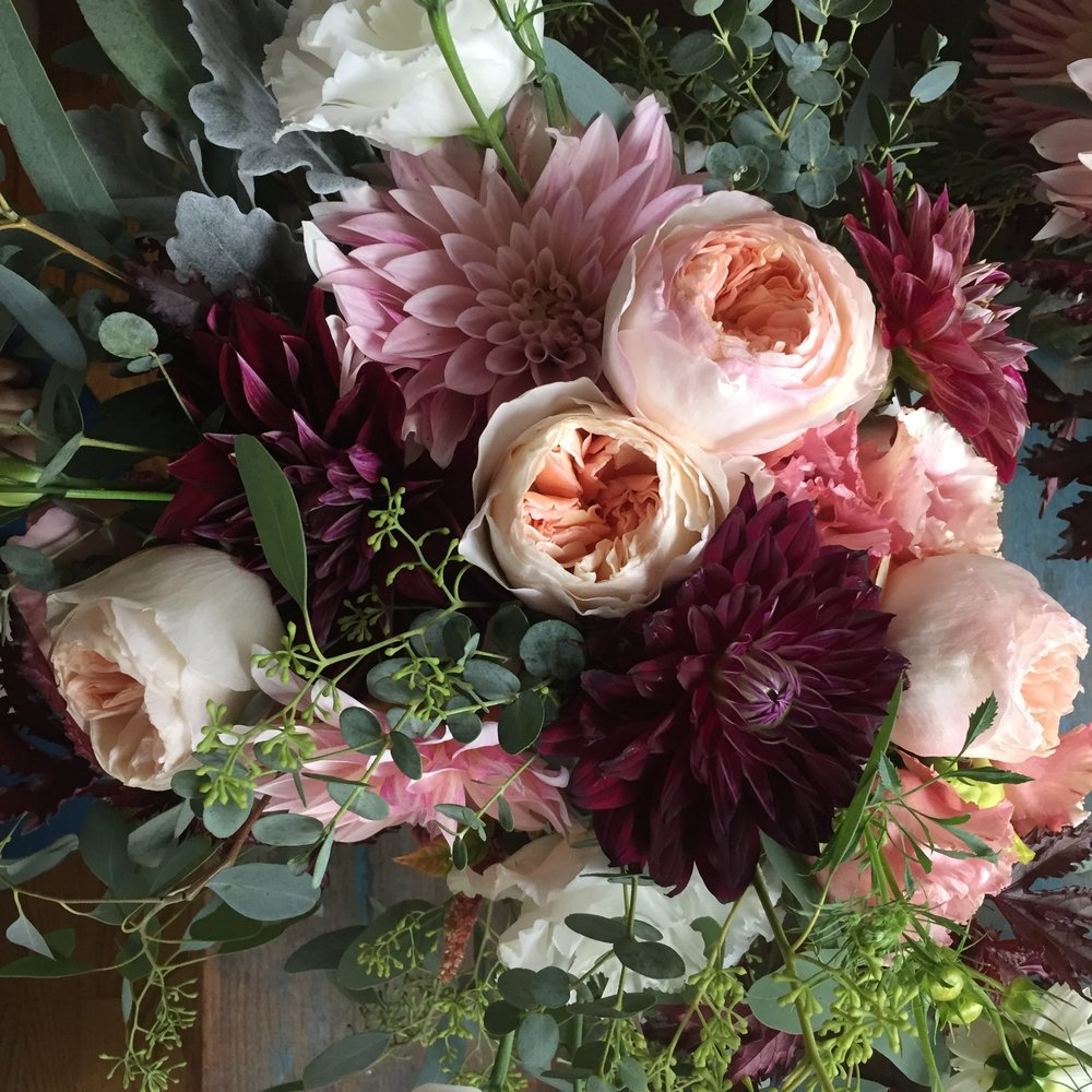 Eco Florist, Ione Floral Design creates bridal bouquets with sustainable flowers.