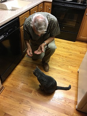 Snack time for Dad's TRUE caregiver.