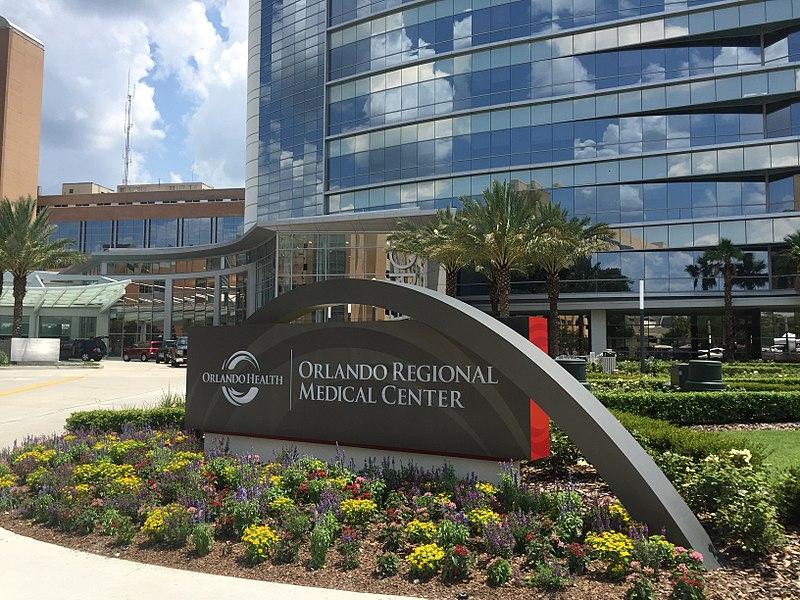 Orlando Regional Medical Center (ORMC) north entrance.