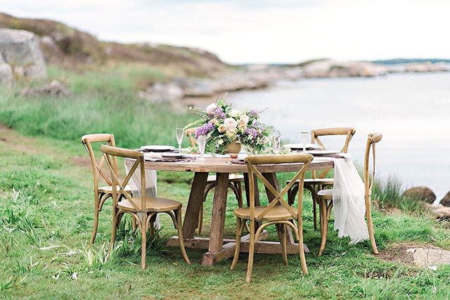 Stoked to have one of our round tables at the @makemerryevents booth for the Brides 2018 event this weekend!! They are a new addition to the tribe;) Have fun everyone!! #tables #harvesttables #halifax #novascotiawedding #halifaxweddings #coastal #beautiful #decor