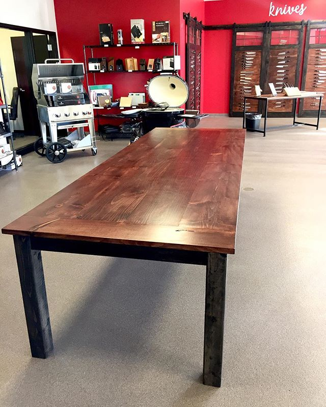 Fresh 10ft harvest table for @bigericsinc !!! They have been amazing clients to work for and we have been fortunate to do many other projects for these guys! For all your kitchen needs go see them! #table