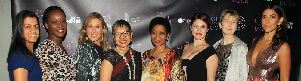 Writer-director, Jessica M. Thompson, lead actress, Stephanie Beatriz, and producer, Maria Cuomo Cole, with Executive Director,   Phumzile Mlambo-Ngcuka  , and other staff members of UN Women at the premiere of  'The Light of the Moon'  in New York City.