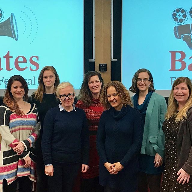 It was such an honor to not only have #TLOTMfilm as part of the @batescollege Film Festival, but also to have our director @jessica.m.thompson as part of the #womeninmedia panel. And what a panel it was! Jess was joined by Laura Wexler, Anike Tourse, Bumble Ward, Amy Geller, & Constance Brimelow. So many amazing & strong female role models on one panel! ❤️❤️❤️ . . . . #womeninfilm #femaleempowerment #thefutureisfemale #timesup #supportindiefilm