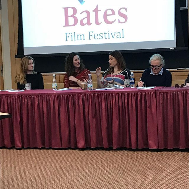 Our director @jessica.m.thompson answering a question during the #WomenInMedia panel at the @batesfilmfestival2018 this past weekend. . . . . . . #womeninfilm #tlotmfilm #femaleempowerment #batescollege #filmfestival #supportindiefilm