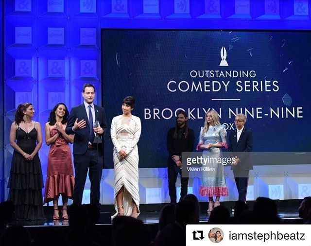 Congratulations to our leading lady @iamstephbeatz and the entire cast & crew of @brooklyn99fox! Not only are you all amazingly funny & talented, but you're doing a great service towards the advancement of #equalityforall Bc #representationmatters!  #Repost @iamstephbeatz ・・・ #representationmatters thank you @glaad for recognizing #brooklyn99 last night at the #glaadawards 🏳️‍🌈