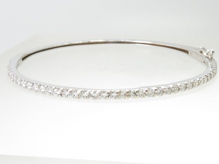 gold bangle itm ladies ebay bangles white jewelco diamond diamonds london bracelet eternity
