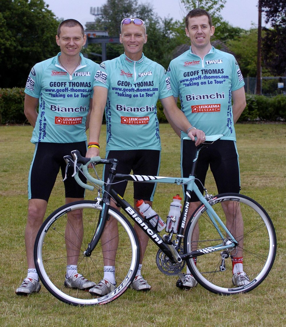 Neil Ashton, Geoff Thomas and Matt Lawton back in 2005