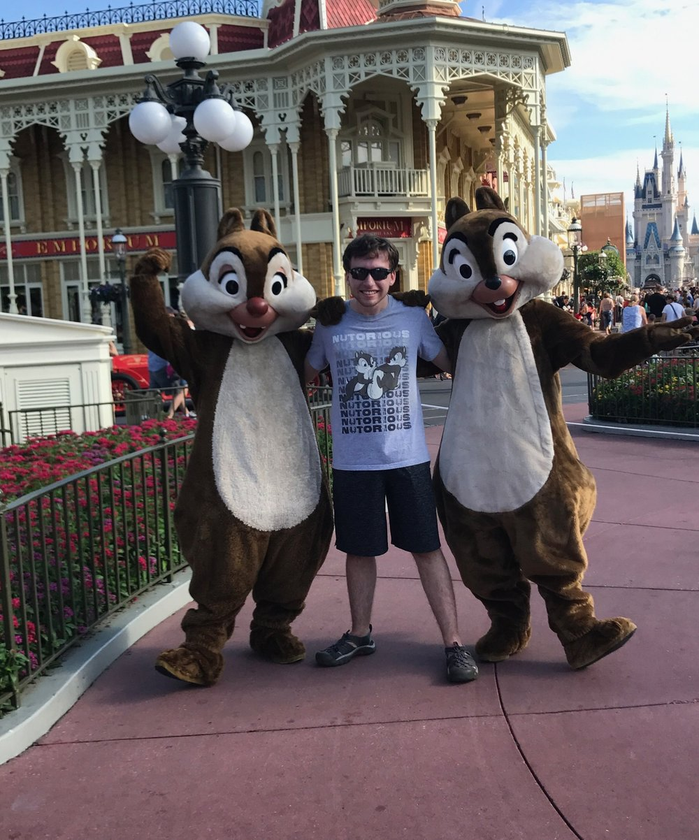 Ben was really hoping Chip and Dale would like his shirt!