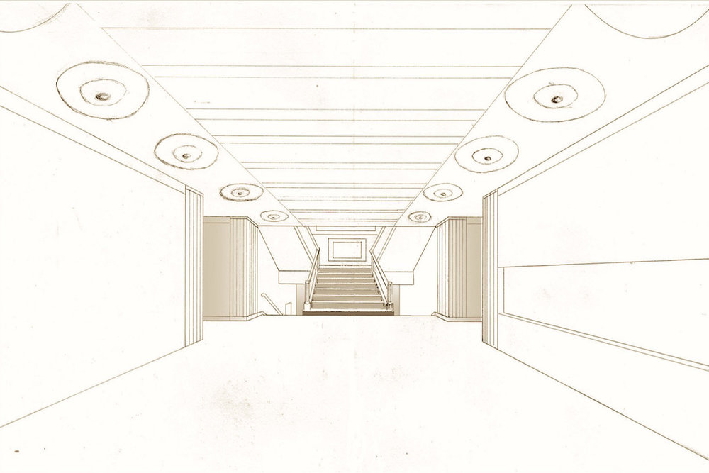 RIBA Foyer:  Drawn Perspective