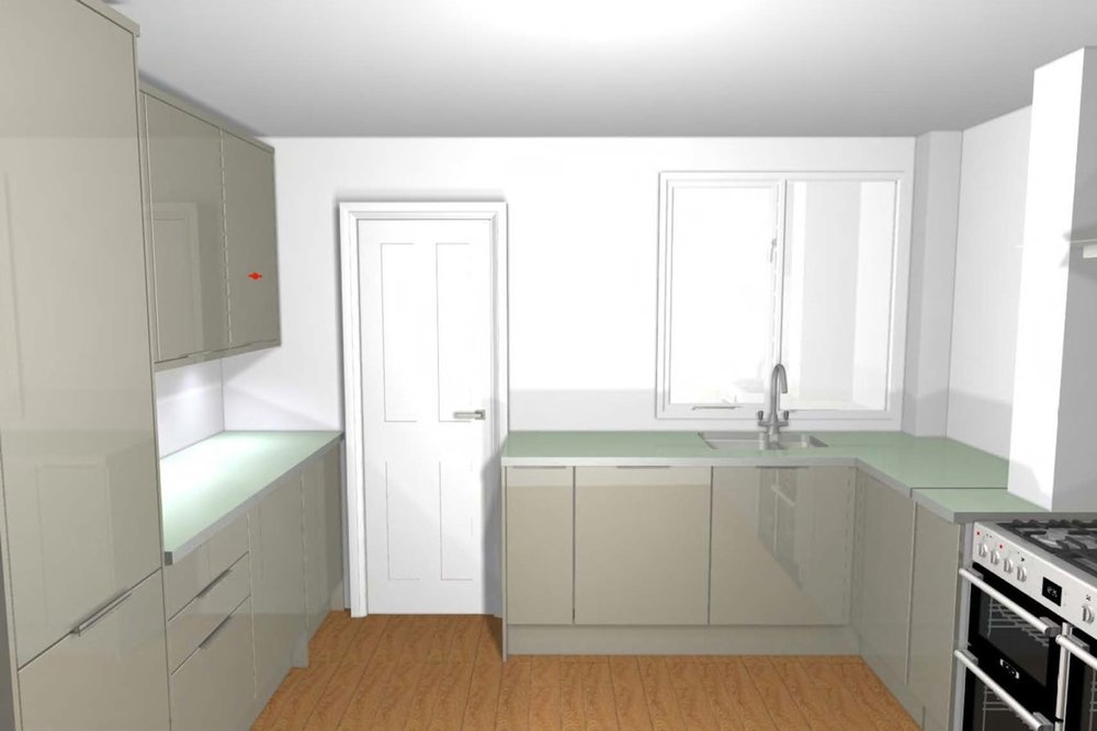 Venn Street: Kitchen Rendered Perspective