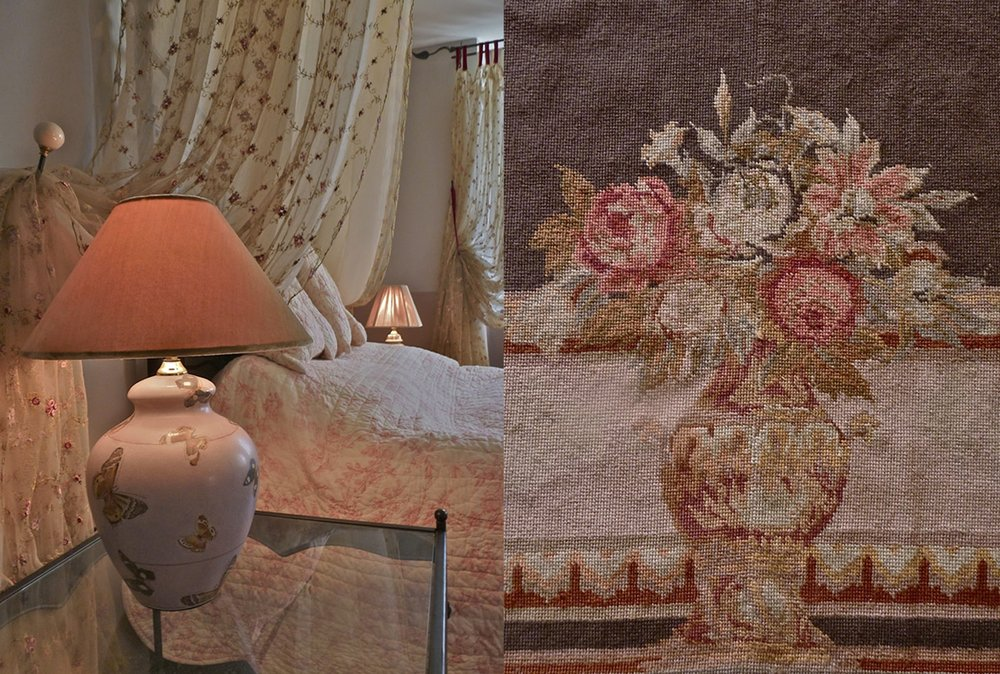 Rose room: Carpet and furnishings detail