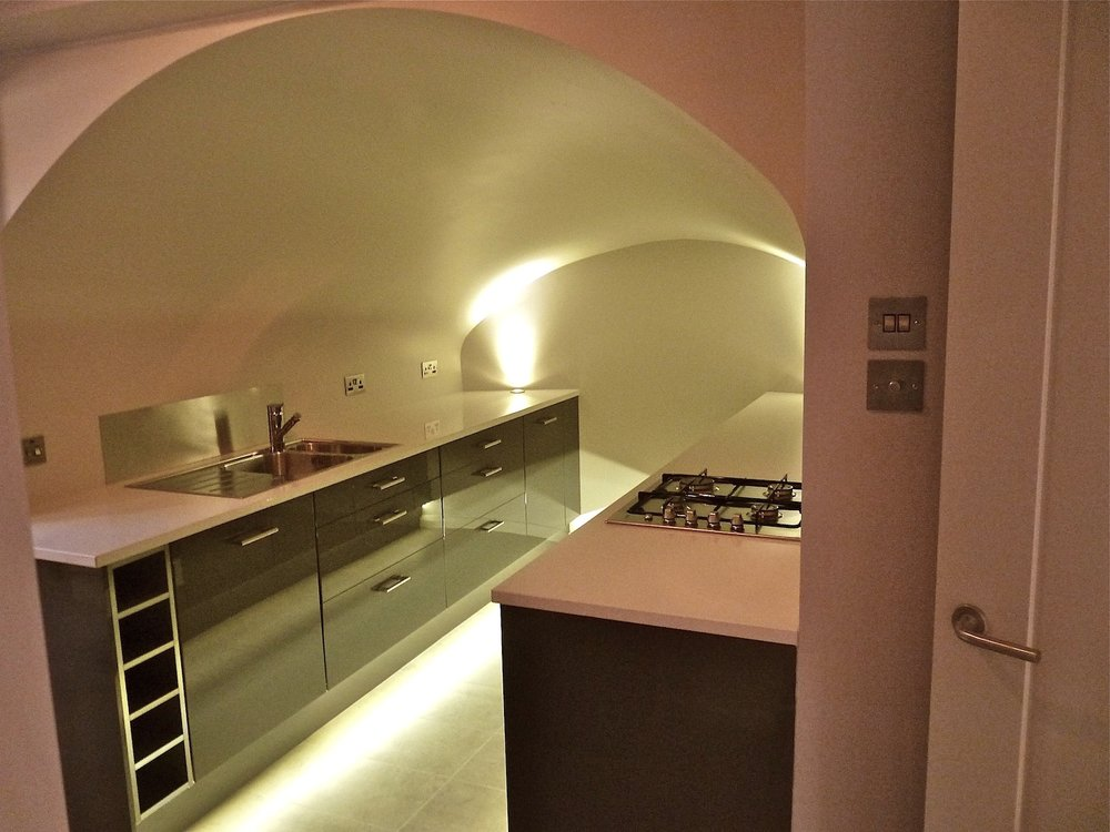 Cumberland Avenue: Vaulted Kitchen After