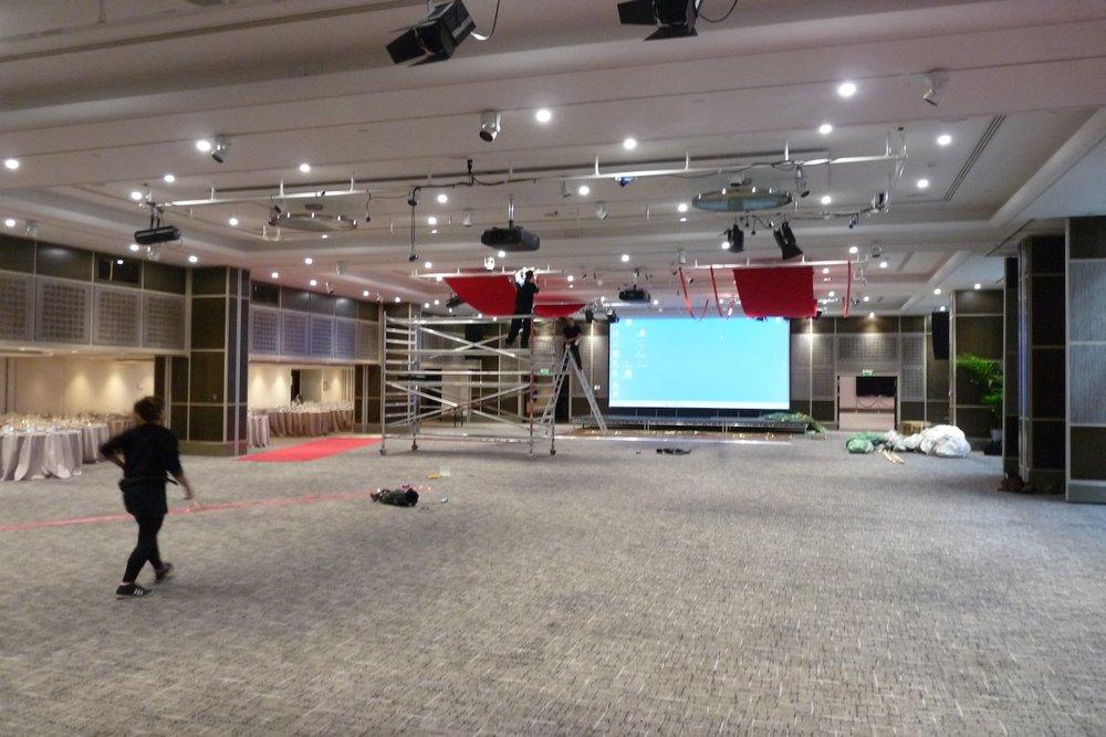 The Grange Ballroom, Tower Bridge / Before install ( MACS Fundraising Ball )